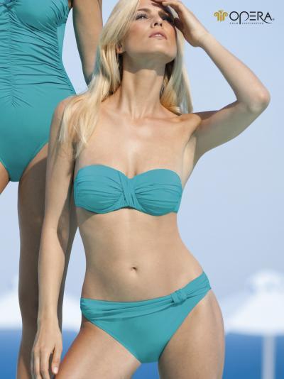 Turkusowy kostium kąpielowy Opera Cannes 61121