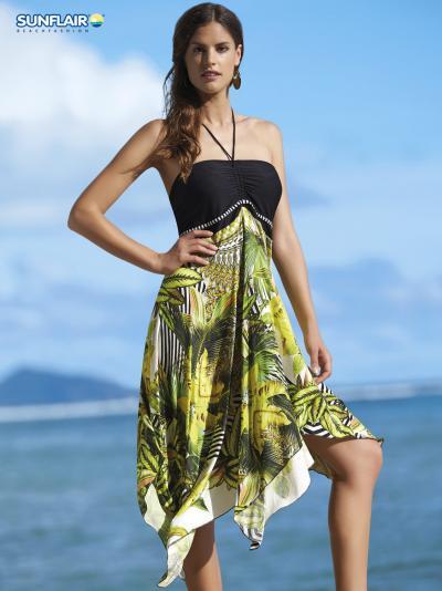 Sukienka plażowa - multistyle Sunflair Banana Forest 23068