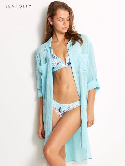 Koszula plażowa Seafolly Beach Basics 53108-CU