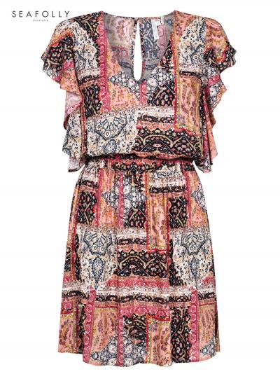 Sukienka plażowa Seafolly Morrocan Moon 53206-DR