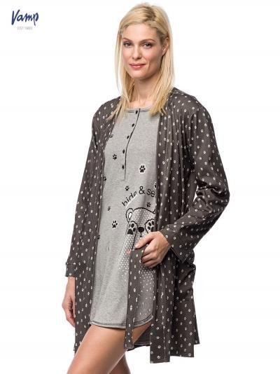 Komplet: Koszula nocna i podomka damska Vamp 7500