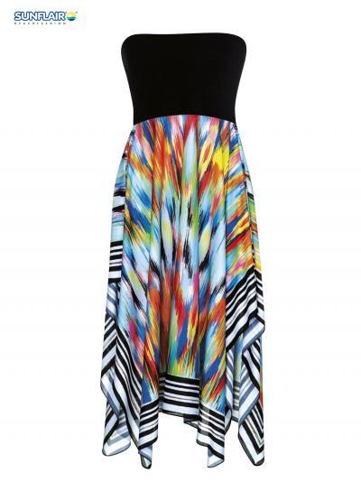 Sukienka plażowa - multistyle Sunflair Painted Curl 23214