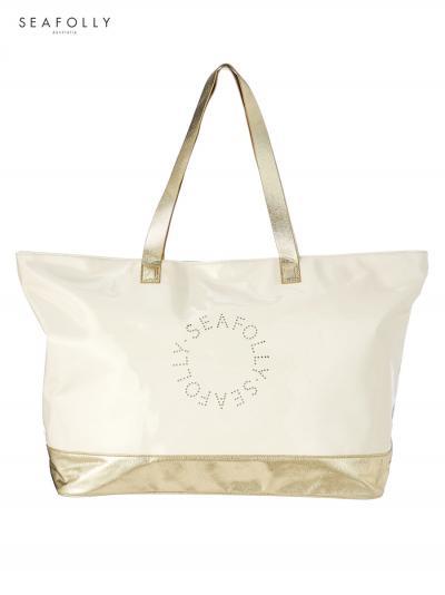 Torba plażowa Seafolly Metallic Logo 71475-BG