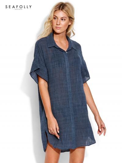Koszula plażowa Seafolly Ruffled Sleeve 53568-CU