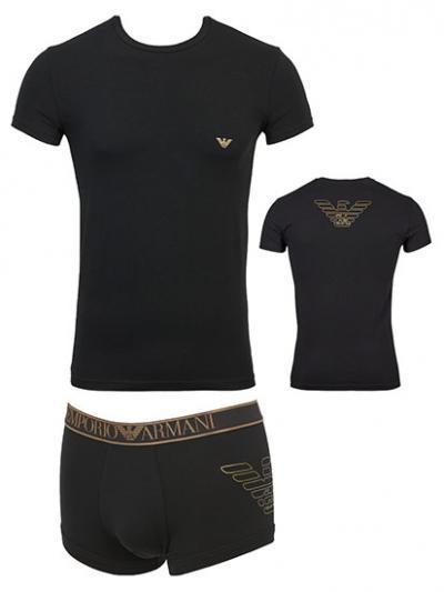 Komplet koszulka i bokserki Armani 1116049A595