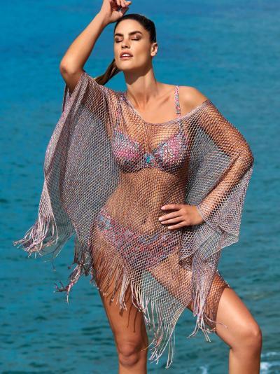 Ażurowa tunika plażowa Opera Crazy Red 63805