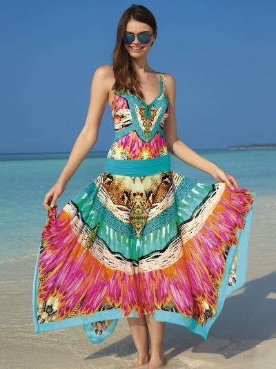 Spódnica plażowa - multistyle Sunflair Oriental Dream 23219