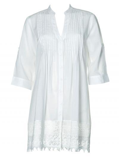 Biała tunika plażowa Opera 63685