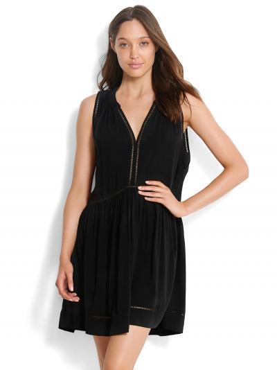Sukienka plażowa Seafolly Beach Basics 52931-DR