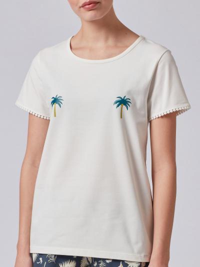 Koszulka damska Skiny Palm Tree Sleep 080376