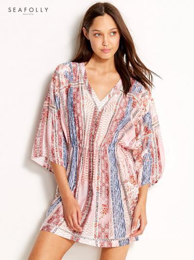 5aa0f25cf1 Jedwabna sukienka plażowa Seafolly Bohemian Print 53314-DR