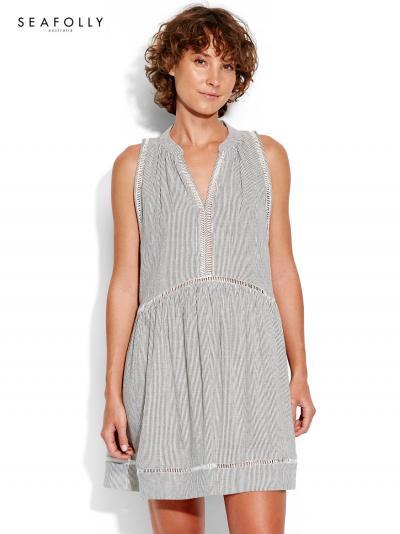 854e7e3c796fd2 Sukienka plażowa Seafolly Finestripe Ladder Detail 53466-DR   BODYLOOK
